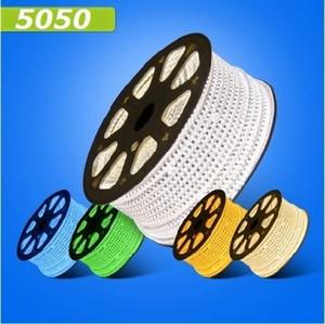 Fanlive 50M (미터) 방수 220V 230V 240V 5050 유연한 주도 네온 튜브 스트립 라이트 외부 리본 문자열 조명 백라이트