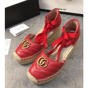 Zapatos de las mujeres de la moda pescador baotou sandalias de plataforma transpirable zapatos de las mujeres de peso ligero guita lazo Armadura de cordones de zapatos pescador