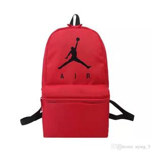 I nuovi uomini e donne di moda sacchetto nero rosso Flying School bag borsa del computer basket zaino per studenti della scuola media