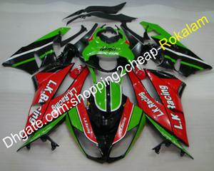 Для Cawasaki Fairing ZX6R ZX 6R 636 ZX-6R 2009 2010 2011 2011 2012 ZX636 Зеленый красный черный мотоцикл Кит (литье под давлением)