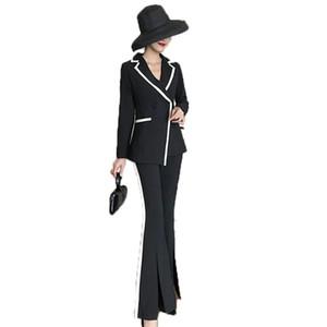 Women's Suit Suit New Style Slim Fit Pants Split Split Fashion Western Assembly Flare Pants 2 piece sets womens outfits