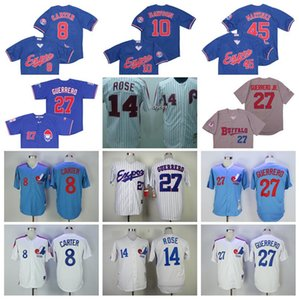 2000 Vintage Baseball 8 Gary Carter Jersey Arrefecer base 10 Andre Dawson 14 Pete Rose 27 Vladimir Guerrero Buffalo Bisons 45 Pedro Martinez