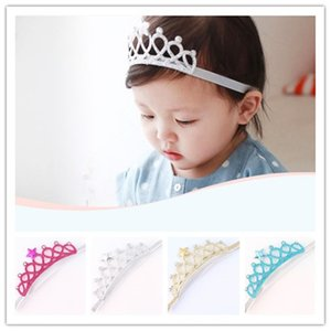 Kids Star Tiaras Rhinestone Headbands Crown Colorful Hair Bands Newborn Cute Shiny Hair Accessories For Birthday Party