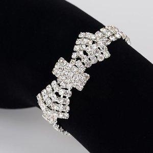 2020 Crystal Bridal Bracelets For Women Rhinestone African Bridesmaid Pulseira Wedding Prom Jewelry Christmas Gift B176