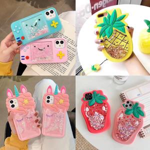 Unicorn Flüssiges Quicksand-Silikon-weiche Spielkonsole Telefon-Kasten für iPhone 11 Pro Max 7 XR SE Gummi-Stoß-Schutz-Abdeckung Fall