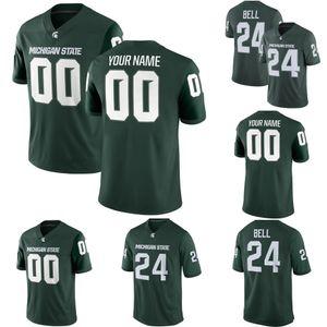Personalisierte Genähte Männer Michigan State Spartans Kirk Cousins Jeder Name und Nummer Customized College Football Jersey