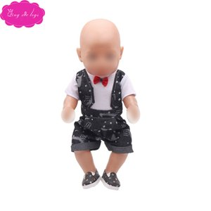 Doll clothes Boys fashion black suit Pants Dress accessories fit 43 cm baby dolls and 18 inch Girl dolls a1-f729