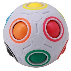 Quebra-cabeças Jogos de Puzzles bola de futebol engraçado magia criativa Cube esférico velocidade do arco-íris Crianças Aprendizagem Educacional de Puzzle brinquedos para as crianças