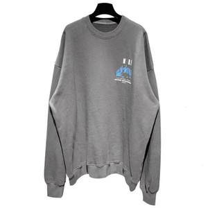 De Manga Larga Europea flojo suéter de cuello redondo con capucha Pareja de gran tamaño de las mujeres del algodón para hombre y calidad de diseño del suéter de alta HFXHWY045