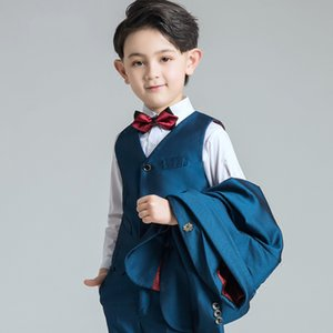 Erkekler Biçimsel OccasionTuxedos Notch Yaka İki Düğme Merkezi Vent Çocuklar Düğün Smokin Çocuk Suit Özel Şık Çocuk Boy Suit DH6239