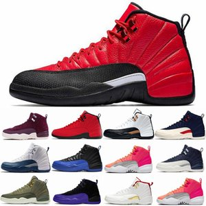 New Dark Concord jumpman 12s mens Basketball Shoes 12 Reverse flu Game Taxi the master Winterized WNTR Gym Red playoffs CNY Sport Sneakers