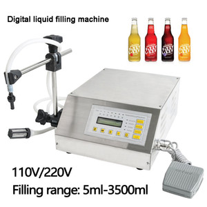 GFK160 5-3500ml Accuracy Digital Liquid Filling Machine LCD Display Drink Water Milk Filling Machine Bottle Vial Filler