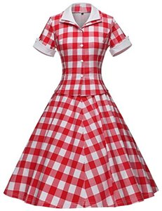 GownTown Vintage 1950s Retro Rockabilly Prom Dresses da donna