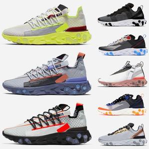 Melhor Marca Sneakers NIK Reagir ISPA lobo fantasma cinzento dos homens do Aqua Running Shoes Formadores Designer Reagir 55 ouro metálico Womens Reagir Elemento 87