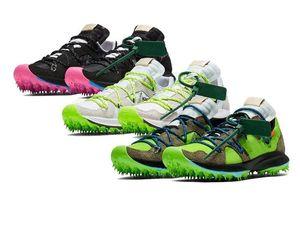 2019 Designer Terra Kiger 5 Running Shoes Black Pink White Electric Green White Grey Green Black Men Womens Sport Sneakers Size 36-45