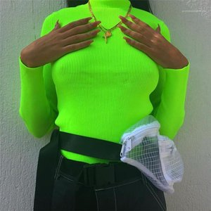 Neck Sweater Spring Autumn Slim Long Sleeve Rib Stitch Sweater Fashion Casual Womens Sweater Womens Designer Turtle