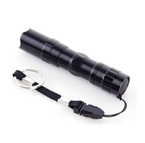 Hot Outdoor Gear Black 3W Waterproof LED Mini bright Flashlight White Light Outdoor Sport Travel Lamp battery flashligt torches lamp