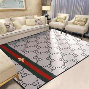 Las abejas de la moda de impresión de alfombras de poliéster Alfombra Familia mobiliario Frente dormitorio puerta de la estera de lujo Alto grado de impresión de la letra Salón de alfombras