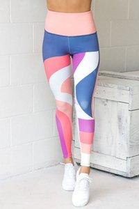 새로운 패션 여성 여자 높은 허리 Yogawear 피트니스 슬림 스키니 레깅스 캐주얼 Muticolor 스포츠웨어 스트레치 바지 데일리웨어