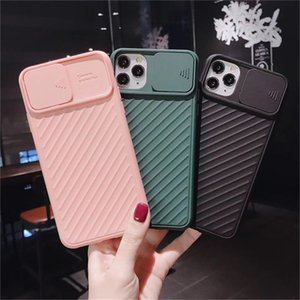 Camera Protection Shockproof Phone Case For iPhone 11 Pro SE2020 X XR XS Max 7 8 Plus Solid Soft TPU Silicone Back Cover
