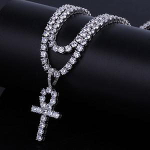 Кулон со льдом хип-хоп кубинские звено цепи дизайнер ювелирных изделий с бриллиантами ожерелье микро проложили хрустальный крест кулон для мужчин роскошные Bling