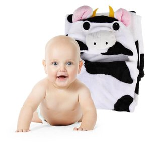 Newborn Baby Bathrobe Pajamas Cute Animal Cartoon Babies Kids Blanket Hooded Bathrobe Sleepers Toddler Comfortable Bath Towel