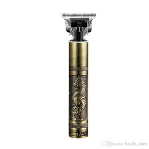 Pelo Marca Trimmer eléctrico recargable barbería cortadora de cabello sin cable 0 mm de lámina en T calvo Outliner acabado de corte de pelo