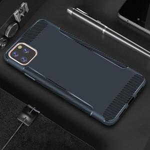 Plus récent en fibre de carbone pour l'iPhone Phone Case 11 Pro Max XS XR 8 7 6 Slim ultra-mince mat TPU couverture Samsung note10 s10