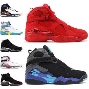 Новый 8 День Святого Валентина 8s мужская баскетбольная обувь Aqua Black White 3PEAT Chrome PLAYOFF мужской тренер спортивные кроссовки дешевые размер 41-47