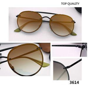 경우에 여성 남성 2020 새로운 패션 여성 남성 반점 선글라스 클럽 레트로 디자이너 선글래스 안경 UV400 라운드 3614 gafas은 상자