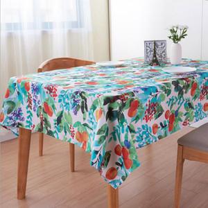 Withme couverture 100% Nappe polyester antipoussière modèle bureau Café Aquarelle Fruit Table rectangulaire couverture manteau mesa nappe