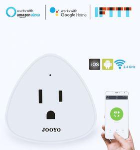 2020 Mini Smart Plug Wifi Control US Canada Mexico Japan Standard Support with Amazon Alexa Google Home Assistant SmatLife App