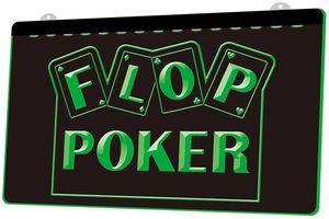 LS1725 0 флоп покер игра казино RGB многоцветный пульт дистанционного управления 3D гравировка LED неоновый свет вывеска магазин бар паб клуб
