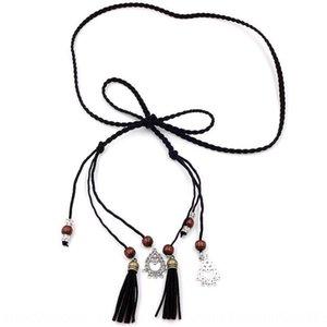 Skirt belt Women's fine accessories all-match sweater simple decoration waist chain handmade woven dress sweater dress waist rope