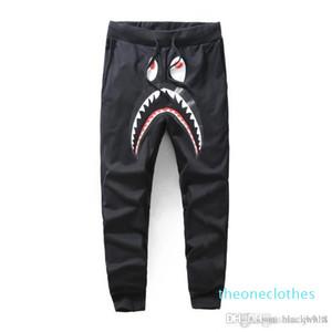2020 Pantalones Negro Gris Shark de los hombres de moda los pantalones Harem Otoño Invierno Fleece deportiva pantalones largos del basculador Correr Sweatpant 02