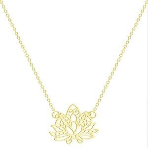 Schmuck Yoga Lotus-Blumen-Halskette mit OM-Symbol alles Gute zum Geburtstag Geschenke Ideen für Mama