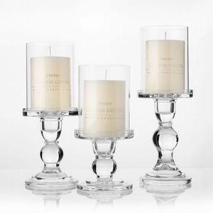 """1pc 3,46 / 4,52 / 5,51 em suportes de vidro vela para 3 \ """"Vela Pilar e 3/4 \"""" Taper Candle Wedding Decoração Castiçal"""