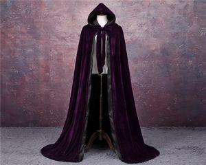 Elegant Pageant Velvet Cloak Luxury Europe Style Robe Medieval Cape Shawl Party Queen Princess Wedding Shawl Cloak