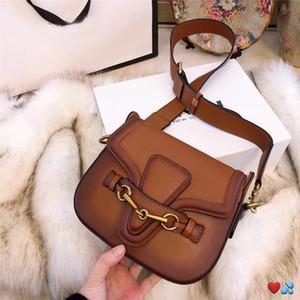 Kadınlar tasarımcı çanta crossbody messenger tek omuz çantaları toz torbası hediye kutusu kaliteli deri klasik tarzı eyer çantası