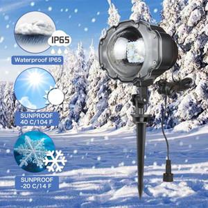 미니 이동 강설량 프로젝터 IP65 야외 정원 레이저 프로젝터 램프 크리스마스 눈송이 레이저 빛 크리스마스 새해 파티
