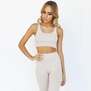 Femmes Stretchy sportswears Ensembles taille haute Legging sport sans couture Activewear Fitness Course survêtements Yoga usure solide