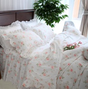 Bedding Sets Pastoral Rose Floral Set,twin Full Queen King Cotton Sweet Single Double Home Textile Bed Dress Pillow Case Quilt Cover