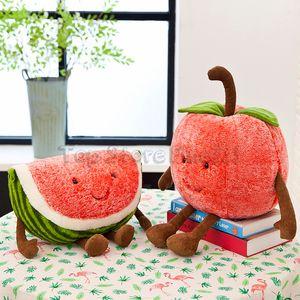 Melancia cereja Stuffed Toys Morango Plush Doll Toy 30CM Fruit Verão Plush Mais Divertido Stuffed For Kids Atacado