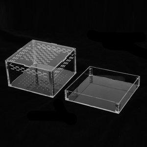 Reutilizable acrílico caja terrario de reptiles Breeding Box para Snake Lizard tortuga Claro