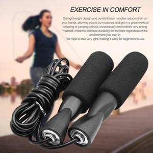 DHL esercizio aerobico Boxe Saltare la corda di salto cuscinetto regolabile Velocità nero fitness unisex delle donne degli uomini Jumprope FY6160