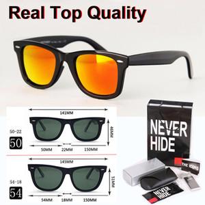 1pcs wholesale - High quality 50 54mm sunglasses men women unisex glasses glass lenses eyewear with original box, accessories, everything!