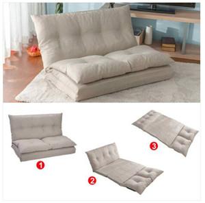 Ventas al por mayor el envío libre ajustable Beige Tela plegable Sofá Chaise Lounge Chair de pie de sofá