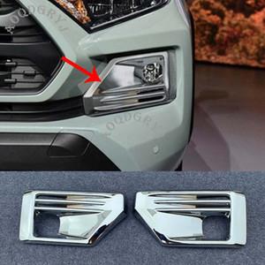 2pcs auto che designa gli accessori bicromato di potassio anteriore della luce di nebbia della lampada Stampaggio coprifuga per Toyota RAV4 2019-2020 TRD