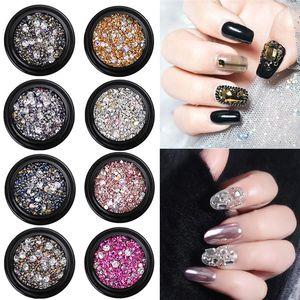 19 Design Glass Nail Rhinestones Diamond Teardrop Horse Eye Crystals Stones Shiny Gems Manicure Nails Art Decorations