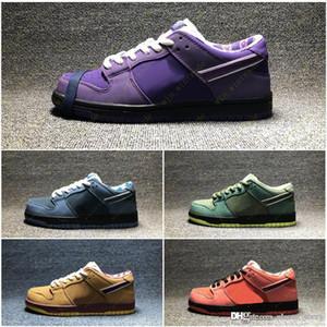 Diseñador púrpura langosta diamante Su estrella de la manera Sole ocasionales de los deportes zapatillas de deporte Conceptos x SB Dunk Low Skateboard zapatos 36-45